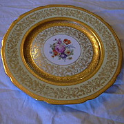 Selb Bavaria K&A Krautheim Dinner Charger Plates Set 12 Gold Trim