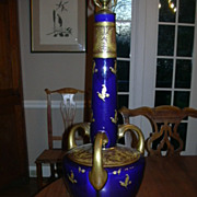 Cobalt Gold Ornate Table Lamp