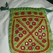 Old Drawstring Bag India Embroidery & Mirrors