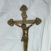 Church Altar Crucifix Chicago Foundry 28th Eucharistic Congress Souvenir  1926 Catholic Cross