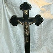 Large Table Or Church Altar Standing  Crucifix Fine Religious Cross
