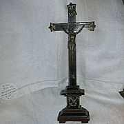 Antique Table Crucifix