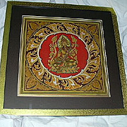 Signed Prisoner Folk Art Painting Green Tara