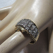 10K Gold & Diamonds Cocktail Dinner Ring