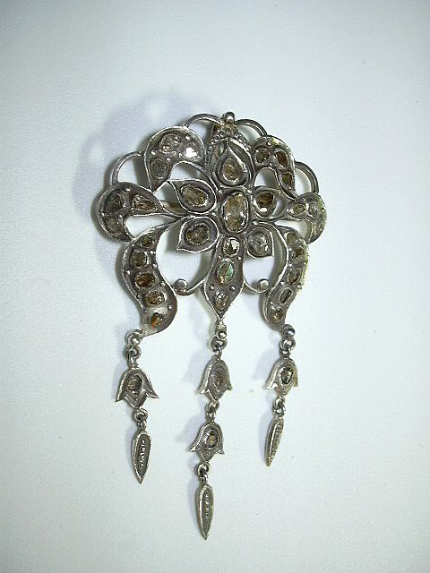 Rose Cut Diamond Brooch Or Pendant European