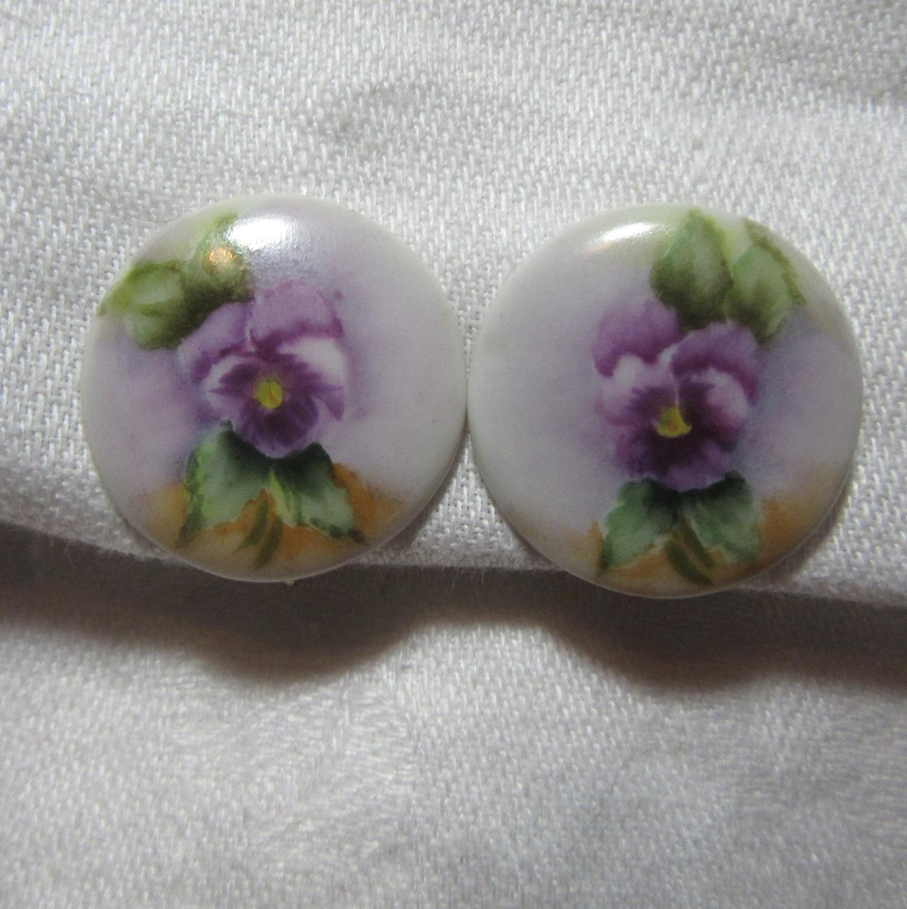 Hand Painted Porcelain Earrings
