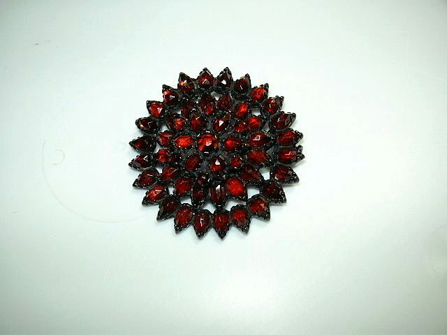 Victorian Garnet Brooch Fine Jewelry