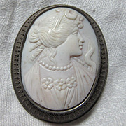 Large Carved Cameo In Sterling Silver Fine Jewelry