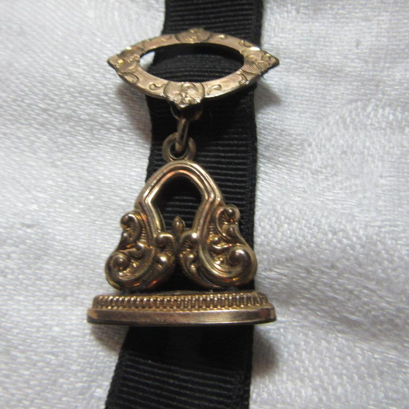 Victorian Watch Fox On Ribbon