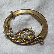 Miriam Haskell Old Brooch