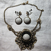 Miriam Haskell Necklace Earring Set