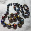 Italian Glass Millefiori or End Of Day Beads Necklace