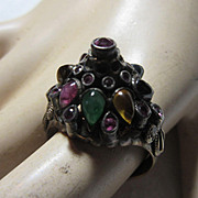 14 Karat Gold Princess Ring Rubies & Natural Stones Fine Jewelry