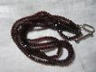 Vintage Garnets Faceted Beads Necklace Fine Garnet Jewelry