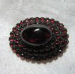 Vintage Garnets Brooch Large Cabochon Fine Jewelry