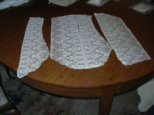 Old Ivory White Lace Pieces