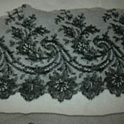 Antique Black Wide Lace Edging