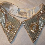 Vintage Pearl Collar Fine Japan Needlework