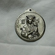 Huge Our lady Perpetual Help & Pope John XXIII Medal