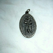 Large Old St Christopher Medal Pallotine Fathers Mission Crusade