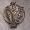 Sterling Silver 3 Way Catholic Medal Mary Jesus St Christopher
