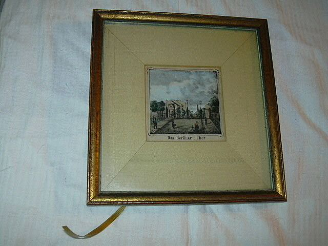 Old Hand Tinted Miniature Landscape Das Berliner Thor Fine Art