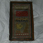 Small Needlework Embroidery Sampler 19th C