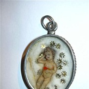 Antique Reliquary Wax Baby Infant  Jesus Catholic Christian Relic
