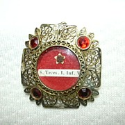 SALE PENDING St Terese of Lisieux Jeweled  Reliquary