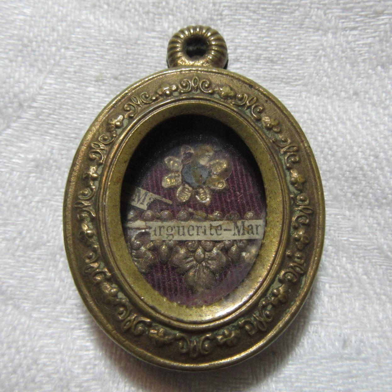 Old Reliquary St Margaret Mary Alacoque Catholic Saint