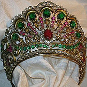 REDUCED Old Italian Jeweled Crown For Santo Saint Virgin Mary Statue