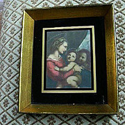 Older Framed Print Madonna And Child