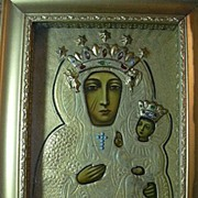 SALE PENDING Our Lady Of Czestochowa Virgin Mary Infant Jesus Icon In Shadowbox