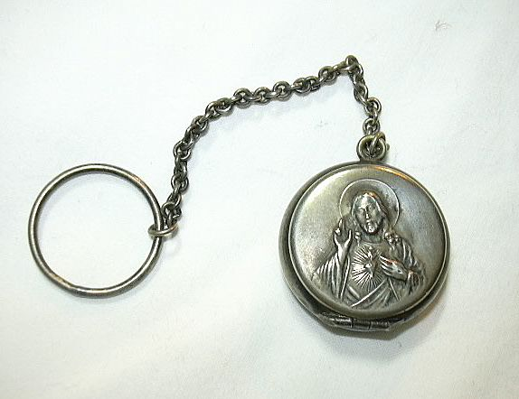 Old Germany Finger Rosary Case Jesus Sacred Heart