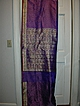 Vintage Indian Sari Purple Silk Fine Textiles Fabric of India