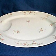 Haviland  Limoges  Pink Spray  Meat Platter 14""