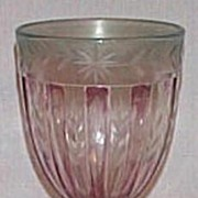 Heisey Recessed Panels Amethyst Candy Jar
