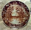 Hand Painted Mountain Scenery Porcelain Plate