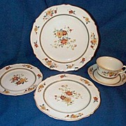 Woods  Ivory Ware Marigold 5 pc Place Setting