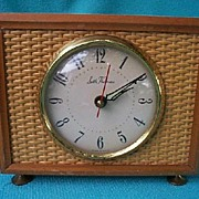Seth Thomas Cane Wood Electric Alarm Clock