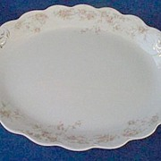 "Johnson Brothers Baroda Oval Platter Large 14"" early 1900s"