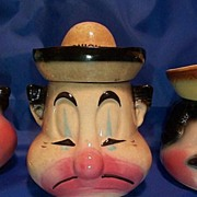 Clown  American Bisque  Onion Condiment  Jar