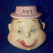 SALE PENDING American Bisque  Freckled Face Jam Condiment Jar
