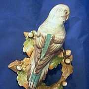 Lefton Parakeet Wall Figurine Bird