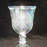 SOLD Avon - Fostoria Hearts And Diamonds Water Goblet