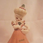 De Lee Hattie Figurine Vase Art Pottery