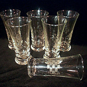 Libbey Rock Sharpe Liqueur Glasses Set of Six