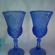 Avon Blue Goblet George Washington Lot of 2