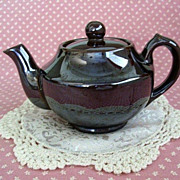 SALE Little Brown Japanese Teapot Serves Tea For One
