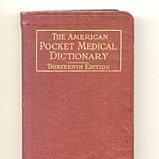 SALE Pocket Medical Dictionary Published 1926